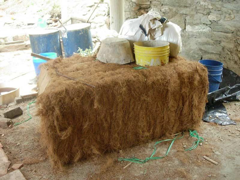 Bloque de fibra de coco de 120 kl.