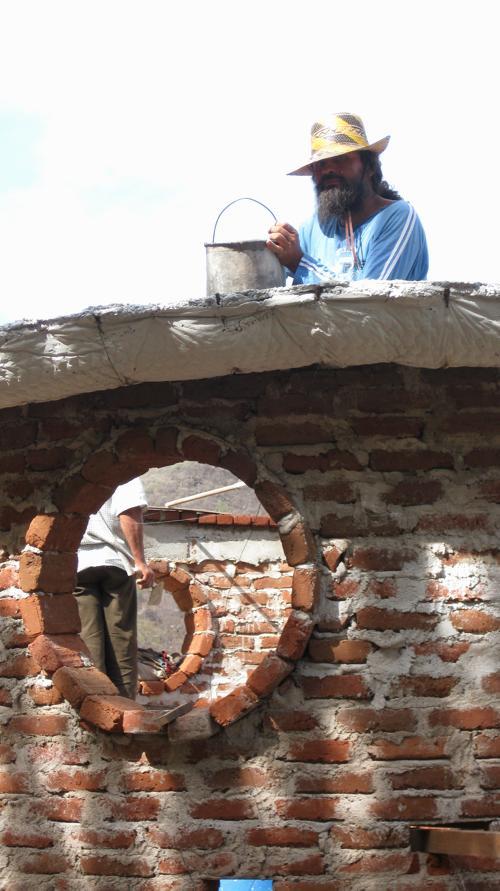 Ruben empezando el domo